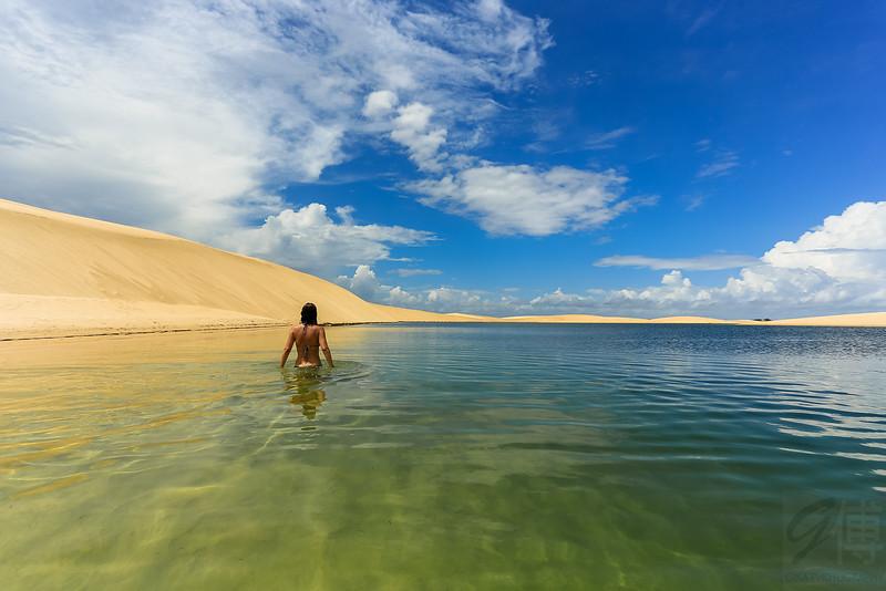 Lagoa da Capivara, Lençós Maranhenses, Maranhão - Brasil