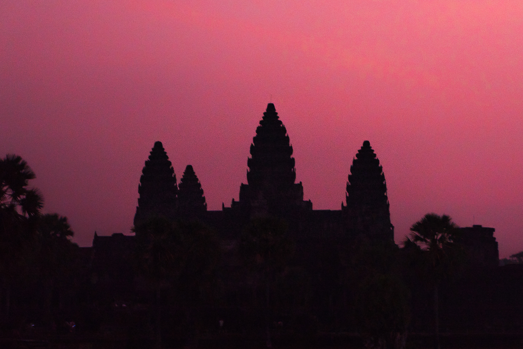 Angkor Wat Sunrise Silhouette