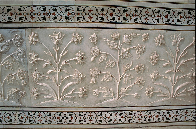 detail on Taj Mahal