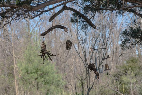 Large dancing eagle mobiles