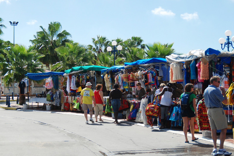Open air market in the French side of St. Maarten