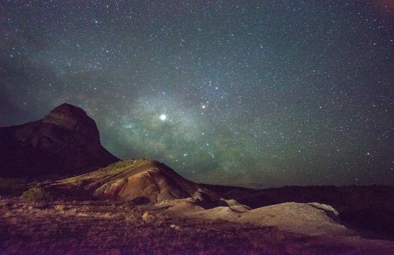 Jupiter Riding The Milky Way