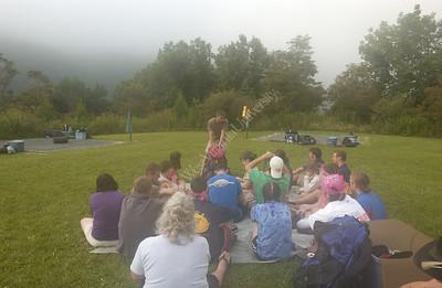 23197 Students camping hiking Seneca trail and Seneca waterfalls adventure camp