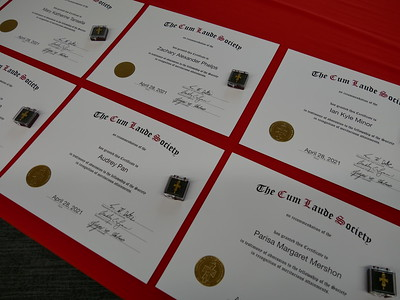Cum Laude Society Ceremony (4/28/2021)