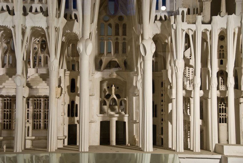 Close-up of a model of the Sagrada Família in the basement museum. (Dec 12, 2007, 03:35pm)
