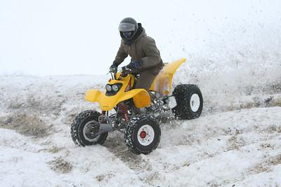 Ridin' in the snow