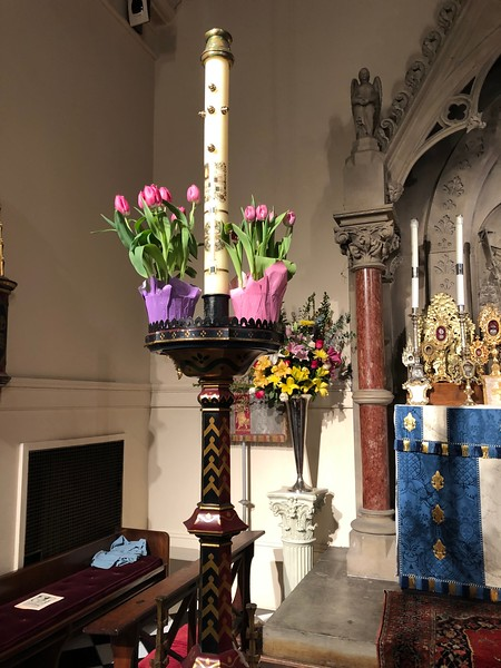 Easter Day High Mass, Paschal Candle