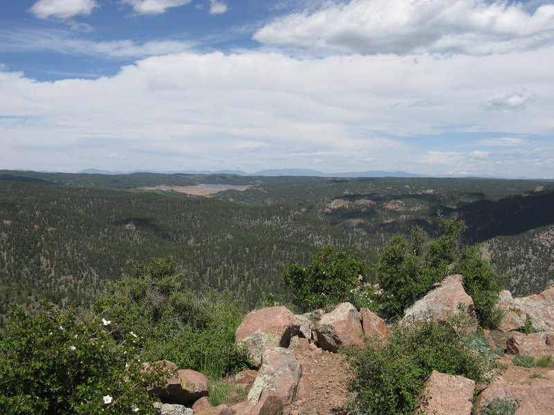 View to west - Rampart Reservoir.