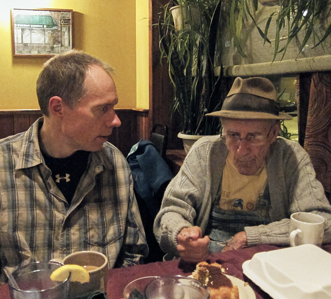 FL, Larry Lebin, at the Bullfrog restaurant, Williamsport PA. Nov 18 2012