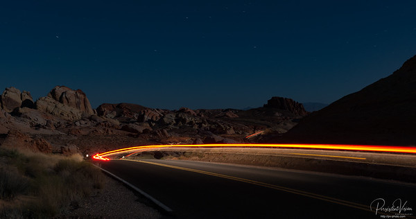 September: Valley of Fire State Park at Night