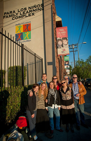 """Max Adler  visits the students from our """"Let's Make a Show"""" Project at Para Los Ninos School"""