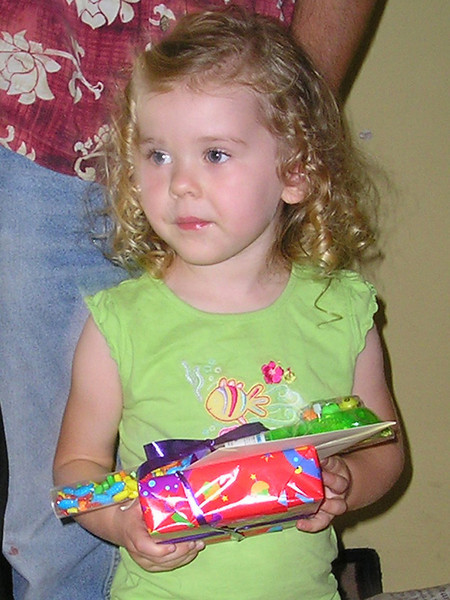 Child bearing gifts. (Cropped closer)