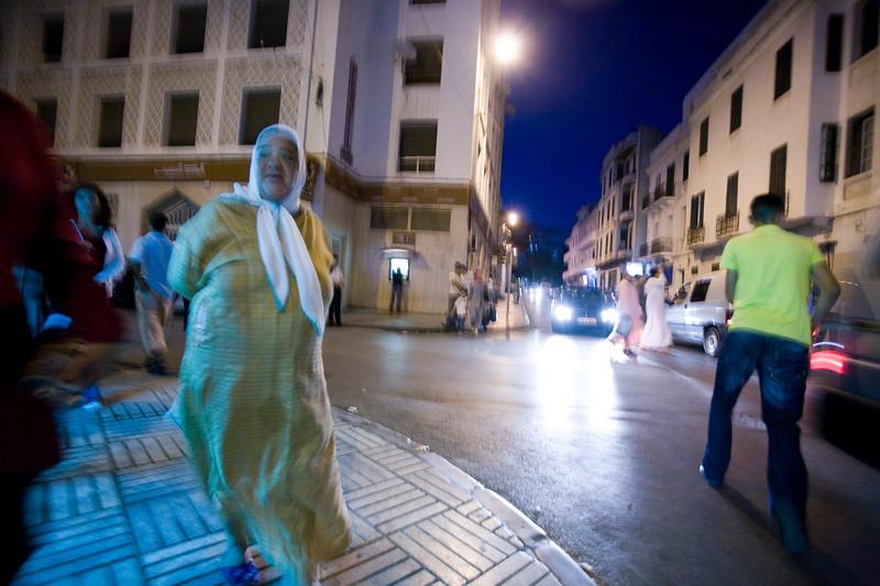 Night scene in the Spanish quarter, Tetouan, Morocco