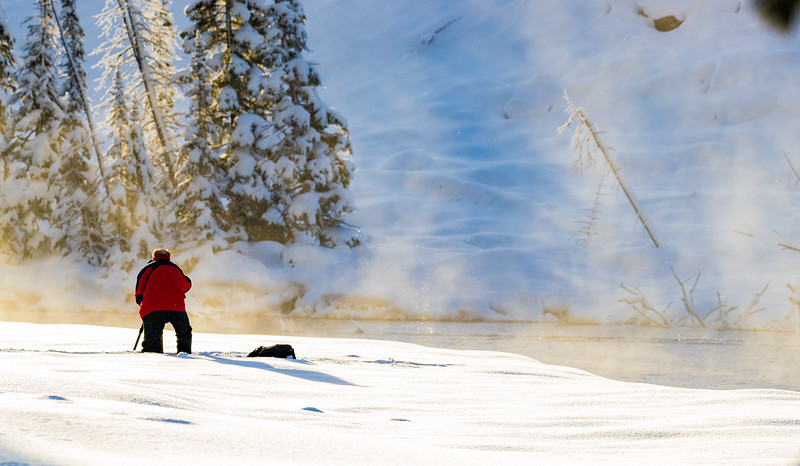 Photographer captures thermal mist in Yellowstone.CR2