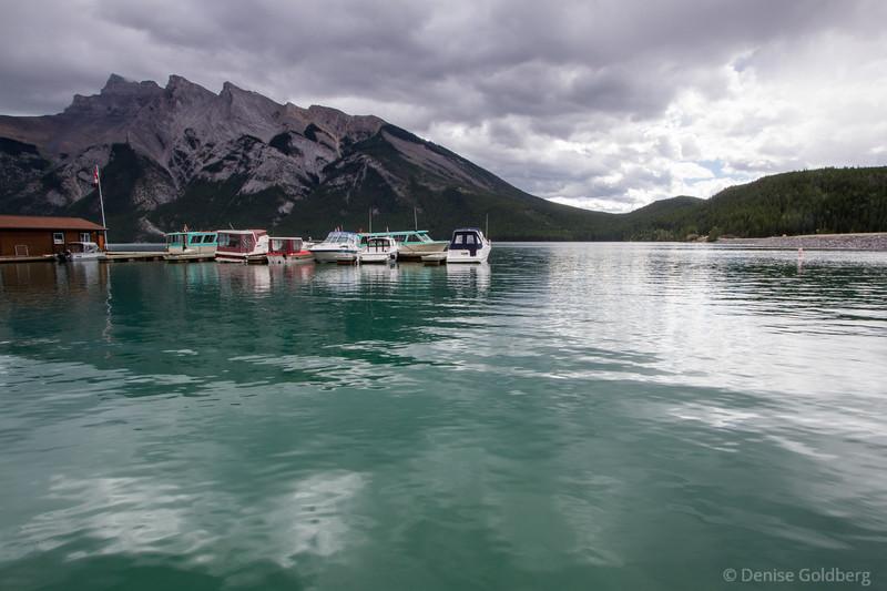 boats on Lake Minnewanka