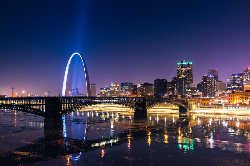 Eads Bridge and the St. Louis Skyline