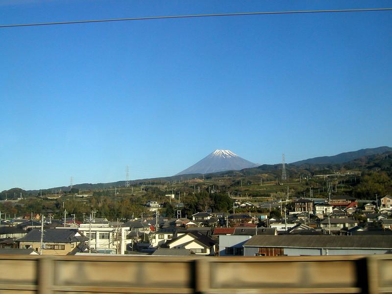 2004 - Mt. Fuji taken from a passing Shinkasen,