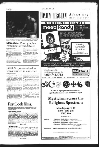 Daily Trojan, Vol. 151, No. 57, April 15, 2004