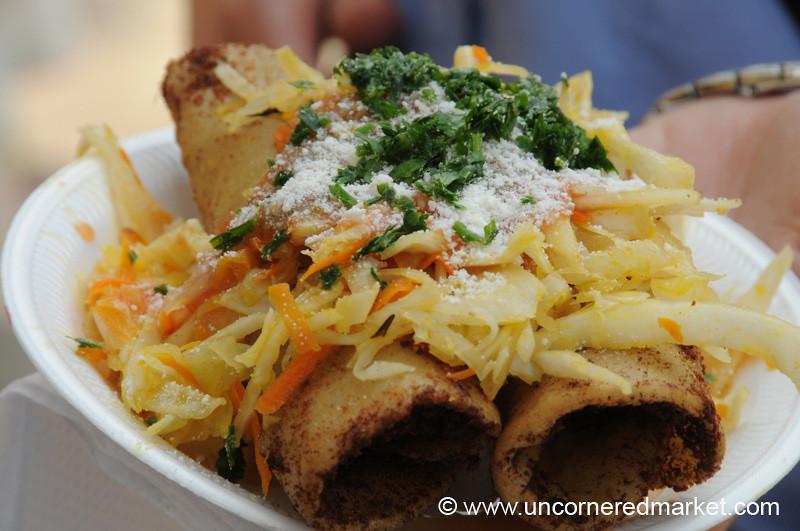 Guatemalan Food, Taquitos Guatemaltecos - Antigua, Guatemala