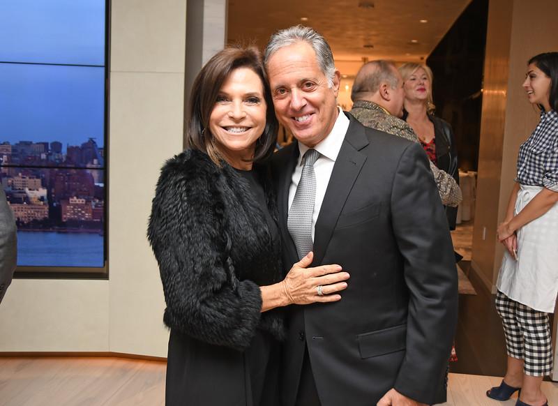 Iris Dankner, Jay Danker AVENUE MAGAZINE Presents the SALON DINNER & CONVERSATION with Architect and Designer DAVID ROCKWELL  10 Hudson Yards NYC, USA - 2017.10.17 Credit: Lukas Maverick Greyson