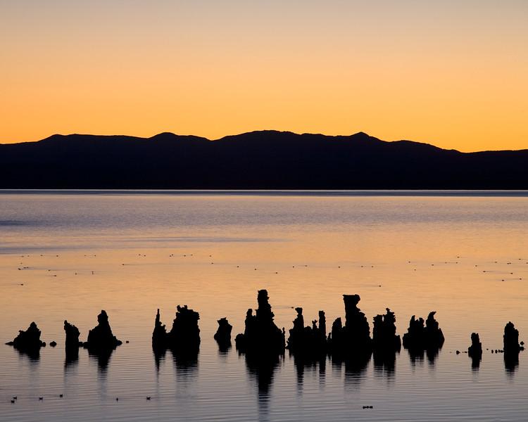 Orange Sky at Mono Lake