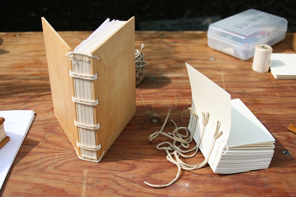 Sewing a Book on Raised Cords