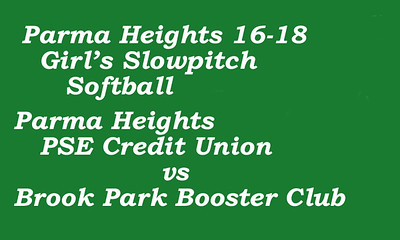 170705 Parma Heights 16-18 Girl's Slowpitch Softball