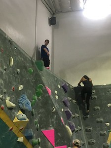 2019.3.28 March Happy Hour and Rock Climbing