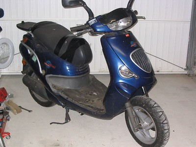 The scooter project bought for 200euros, sold for 450 :-)