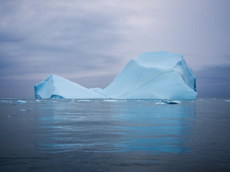 Iceberg at sunset on the Ilulissat Icefjord