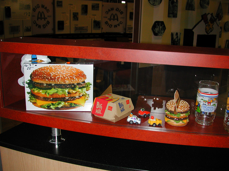 In the museum Big Mac goodies are every where.