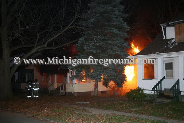10/30/08 - Flint house fire, next to 2309 Chevrolet