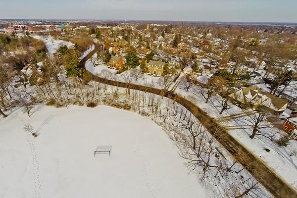 Woodlawn Park Deep Winter in Flint Michigan