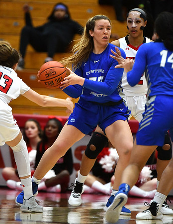 12/21/2019 Mike Orazzi | StaffrCCSU's Ashley Berube (33) during Saturday's women's basketball game with The University of Hartford in West Hartford.