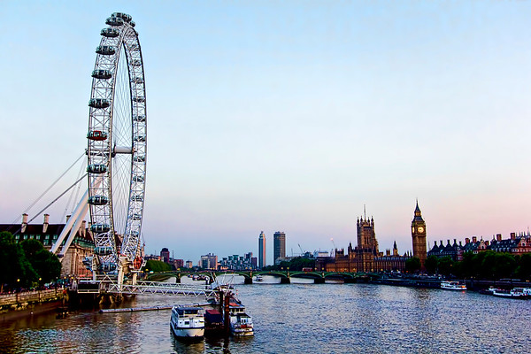 The London Eye, Big Ben, and River Thames
