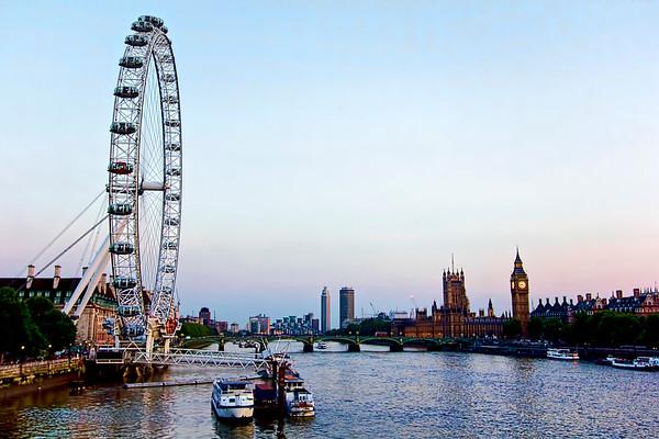 The London Eye, Big Ben, and River Thames