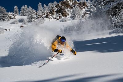 Skiing The Portneuf Range