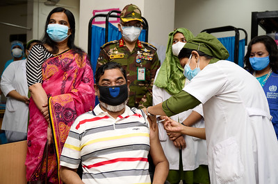 COVAX-Vaccine Launching day in Bangladesh- 21 June 2021.