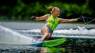 Siani Oliver slalom water skiing