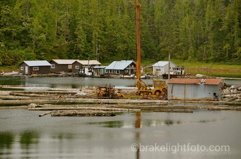 Floatng Logging Camp at Shearwater