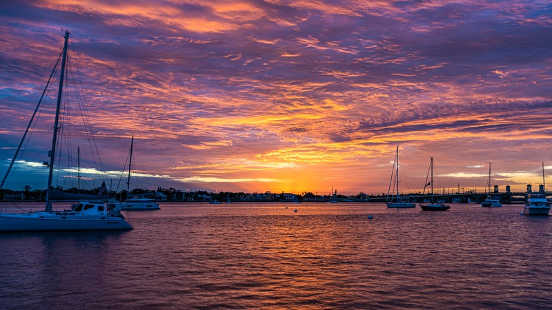 Sunrise on Matanzas Bay, St Augustine, Florida