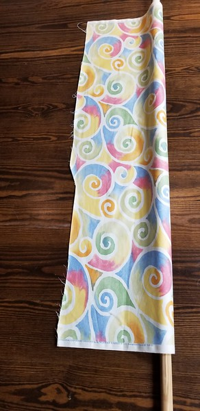 Upholstery Material mounted on a dowel,  51 in x 3 yds $60 OBO