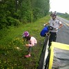 Saya and Sho Scott collect data for ASC's roadkill project in rural New York. PHOTO BY CHARLES SCOTT