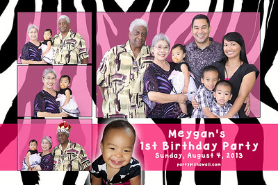 Meygan's 1st Birthday (Multi-Photo Collage)