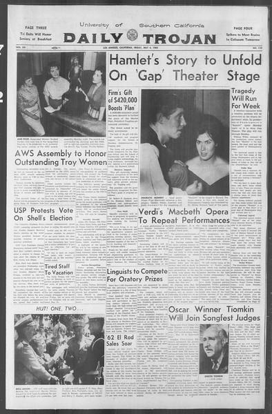 Daily Trojan, Vol. 53, No. 119, May 04, 1962
