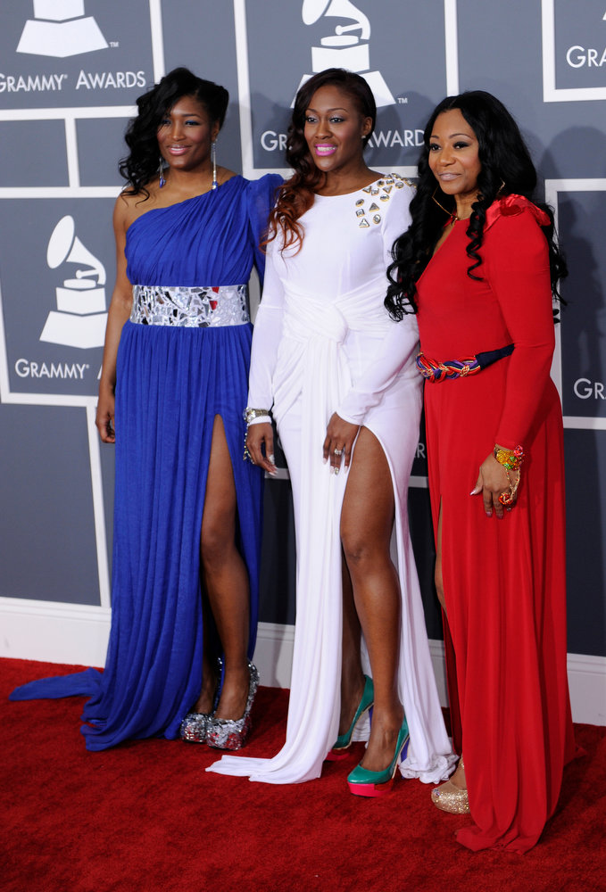 . SWV arrives to  the 55th Annual Grammy Awards at Staples Center  in Los Angeles, California on February 10, 2013. ( Michael Owen Baker, staff photographer)