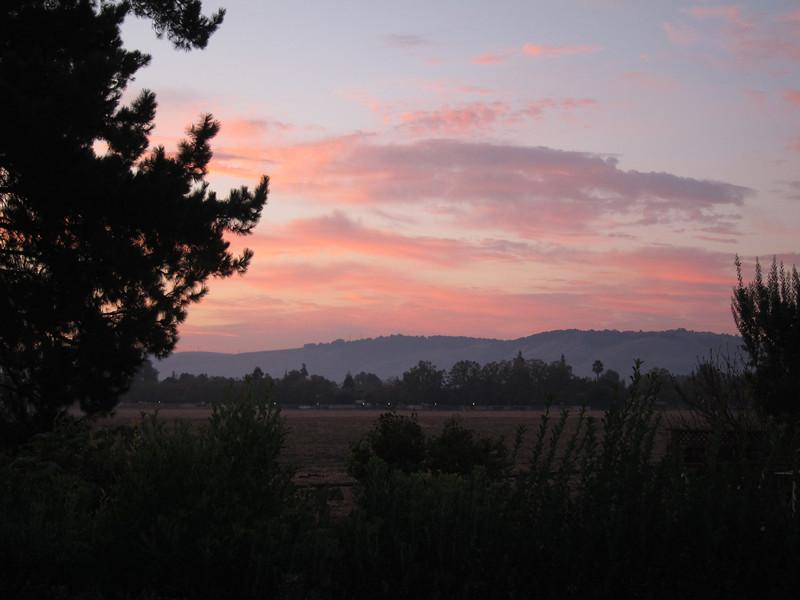 Sunrise, south san jose