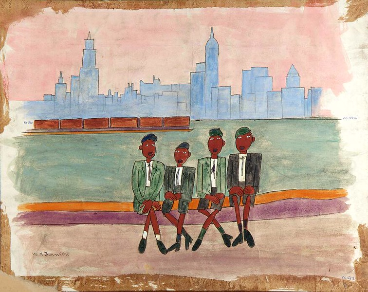"William H. Johnson, ""Boys' Sunday Trip"" (ca 1939-42)"