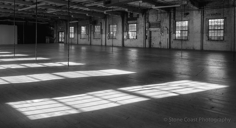 Light Patterns at The Portland Company BW