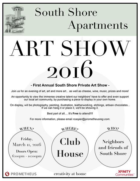 South Shore Private Art Show Flyer